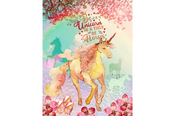 Download Free Be A Unicorn In A Field Of Horses Graphic By Graphicsfarm for Cricut Explore, Silhouette and other cutting machines.