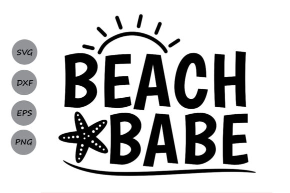 Beach Babe Graphic By Cosmosfineart Creative Fabrica
