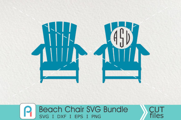 Beach Chair Monogram  Graphic Crafts By Pinoyartkreatib