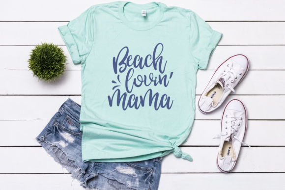 Download Free Beach Lovin Mama Svg Graphic By Morgan Day Designs Creative for Cricut Explore, Silhouette and other cutting machines.