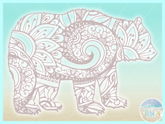 Download Free Bear Mandala Zentangle Svg Graphic By Harbor Grace Designs for Cricut Explore, Silhouette and other cutting machines.