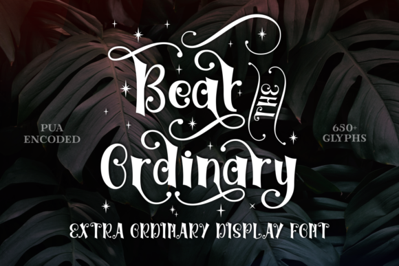 Print on Demand: Beat the Ordinary Display Font By Rifki (7ntypes)