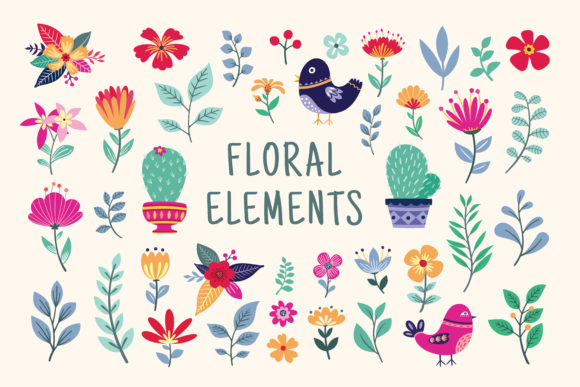 Beautiful Floral  Graphics and Illustrat Graphic Illustrations By AllmoStudio