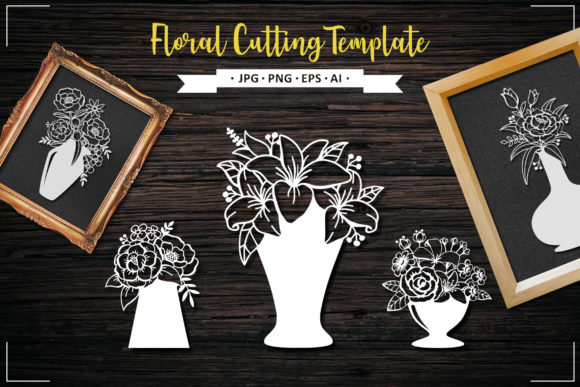 Beautiful Flower, Floral Element Graphic Crafts By AllmoStudio