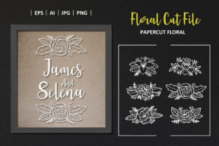 Beautiful Flower Floral Cut File Element Graphic Crafts By AllmoStudio