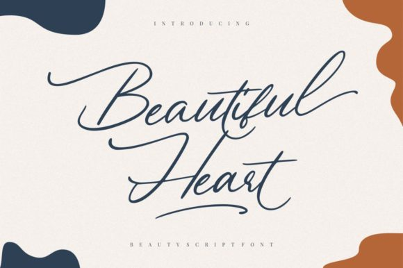 Print on Demand: Beautiful Heart Script & Handwritten Font By Garisman Studio