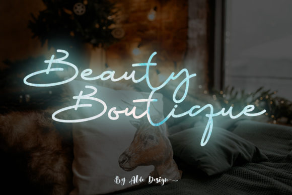 Print on Demand: Beauty Boutique Manuscrita Fuente Por aldedesign