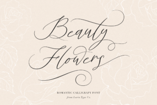 Beauty Flowers Font By Pasha Larin