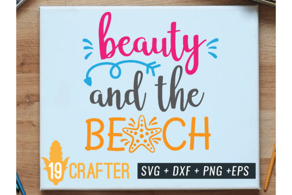 Print on Demand: Beauty and the Beach Summer Holiday Svg Graphic Crafts By great19