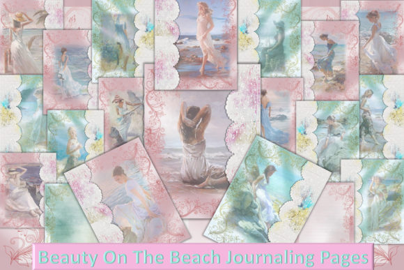 Print on Demand: Beauty on the Beach Backgrounds Graphic Illustrations By The Paper Princess