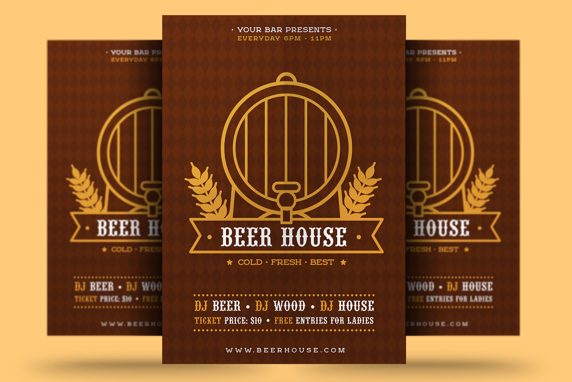 Download Free Beer Flyer Graphic By Rafozfarzo Creative Fabrica for Cricut Explore, Silhouette and other cutting machines.