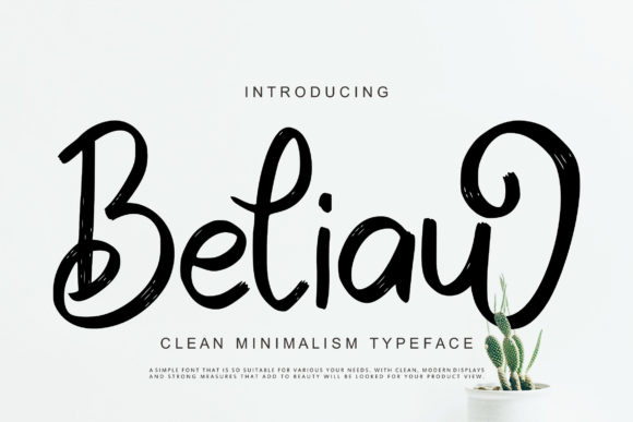 Print on Demand: Beliau Script & Handwritten Font By Vunira