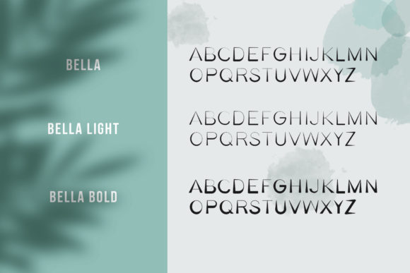 Print on Demand: Bella Family Serif Font By Awesome Templates - Image 5