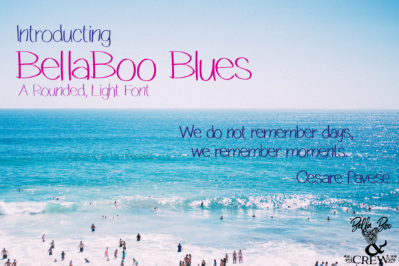 Print on Demand: BellaBoo Blues Sans Serif Font By BellaBoo