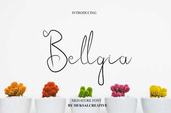 Print on Demand: Bellgia Script & Handwritten Font By Muksal Creative