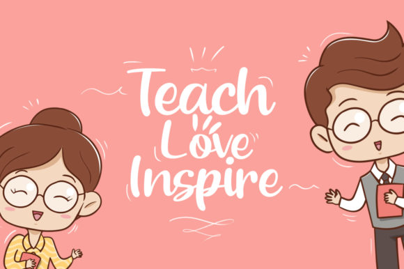 Download Free Beloved Teacher Fuente Por Khurasan Creative Fabrica for Cricut Explore, Silhouette and other cutting machines.