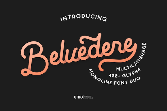 Belvedere Font By unio.creativesolutions Image 1