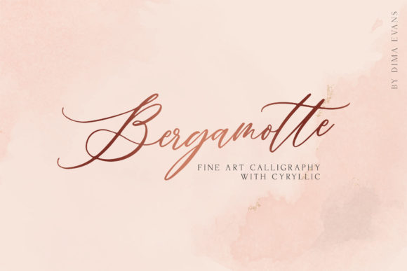 Print on Demand: Bergamotte Script & Handwritten Font By Dmitrii Chirkov