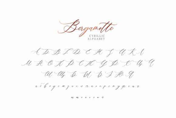 Print on Demand: Bergamotte Script & Handwritten Font By Dmitrii Chirkov - Image 9