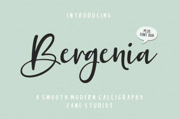 Print on Demand: Bergenia Duo Script & Handwritten Font By Zane Studio