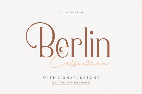 Print on Demand: Berlin Serif Font By HansCo
