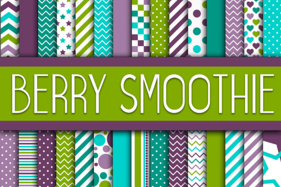 Berry Smoothie Digital Paper Graphic Crafts By oldmarketdesigns