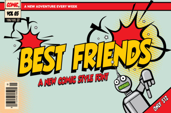Print on Demand: Best Friends Display Font By Salt & Pepper Designs