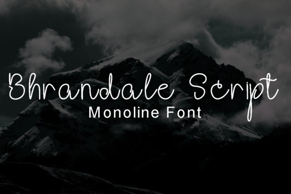 Print on Demand: Bhrandale Script Script & Handwritten Font By tsa.creativestudio