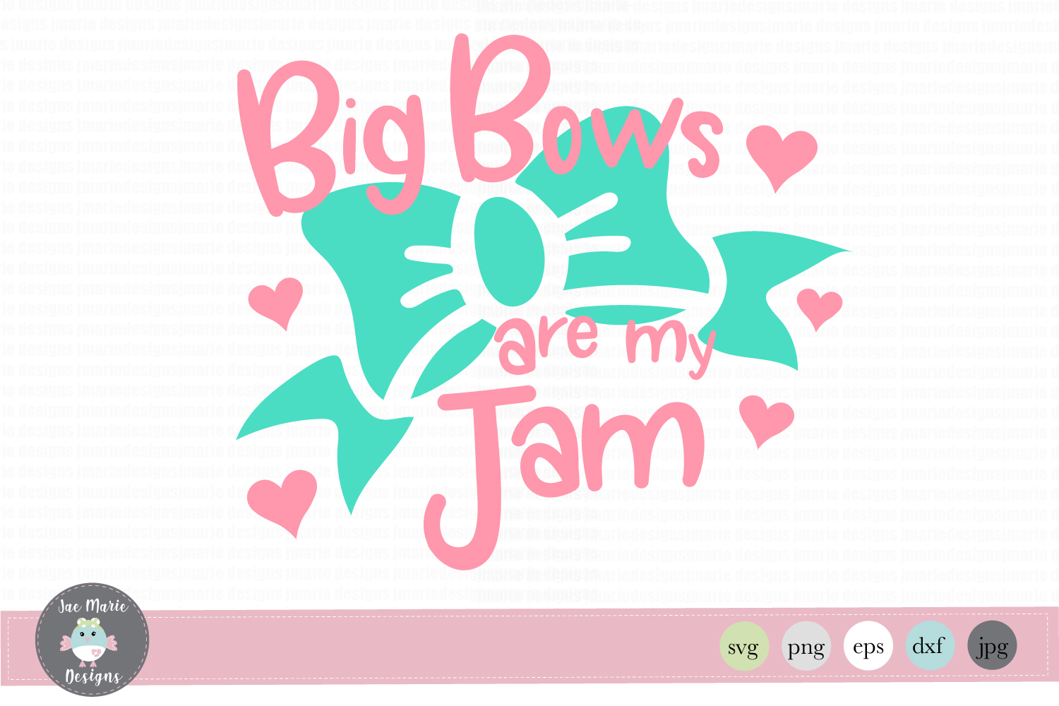 Big Bows Are My Jam Graphic By Thejaemarie Creative Fabrica