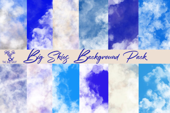 Download Free Big Skies Background Pack Graphic By Bellaboo Creative Fabrica for Cricut Explore, Silhouette and other cutting machines.