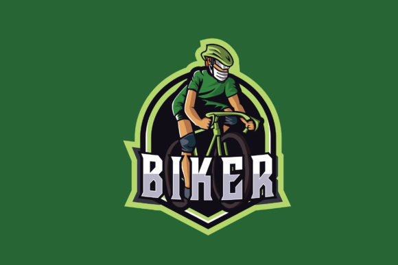 Print on Demand: Biker E-Sports Logo Graphic Logos By ovoz.graphics