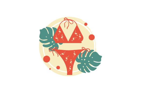 Bikini Abstract Print Style Summer Craft Cut File By Creative Fabrica Crafts - Image 1