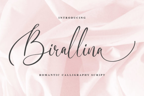 Print on Demand: Birallina Script & Handwritten Font By Blankids Studio