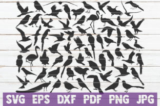 Download Free Bird Silhouettes Bundle Cut Files Graphic By Mintymarshmallows for Cricut Explore, Silhouette and other cutting machines.