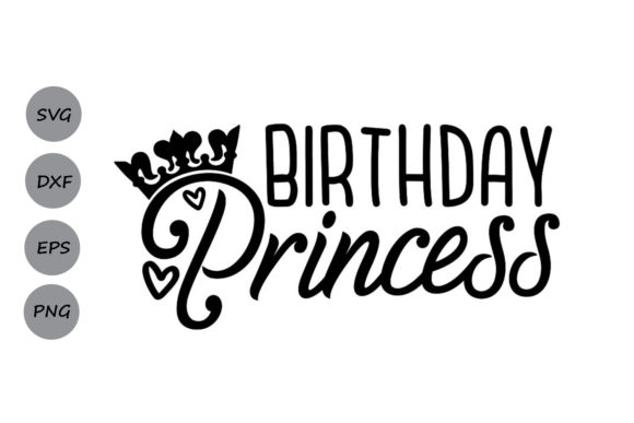 Download Free Birthday Princess Graphic By Cosmosfineart Creative Fabrica for Cricut Explore, Silhouette and other cutting machines.