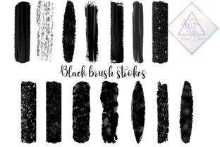 Black Brush Strokes Clipart Graphic By fantasycliparts