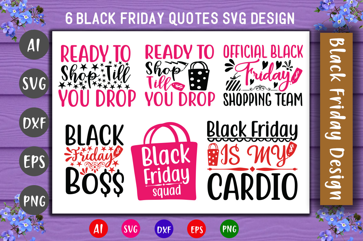 Download Free Black Friday Bundle New Graphic By Creativeart Creative Fabrica for Cricut Explore, Silhouette and other cutting machines.