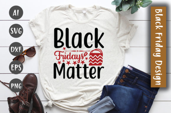 Print on Demand: Black Fridays Matter SVG Design Graphic Crafts By CreativeArt