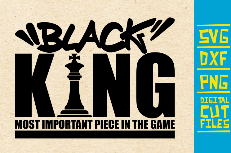 Black King Svg Afro Man Africa Chess Graphic By