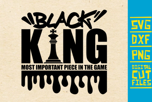 Download Free Black King Chess Piece African Graphic By Svgyeahyouknowme for Cricut Explore, Silhouette and other cutting machines.