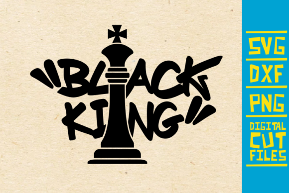 Download Free Black King Chess Piece Afro Man Graphic By Svgyeahyouknowme for Cricut Explore, Silhouette and other cutting machines.