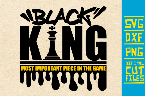 Black King Chess Piece Dripping Graphic By Svgyeahyouknowme