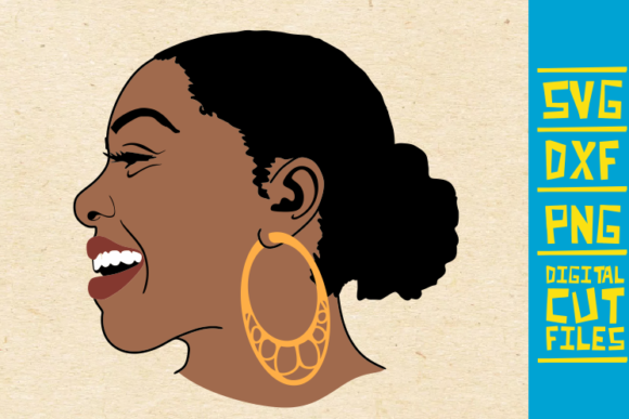Download Free Black Laughing Woman Graphic By Svgyeahyouknowme Creative Fabrica for Cricut Explore, Silhouette and other cutting machines.