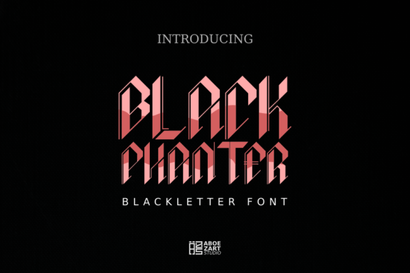Print on Demand: Black Phanter Blackletter Font By AboeZart Studio