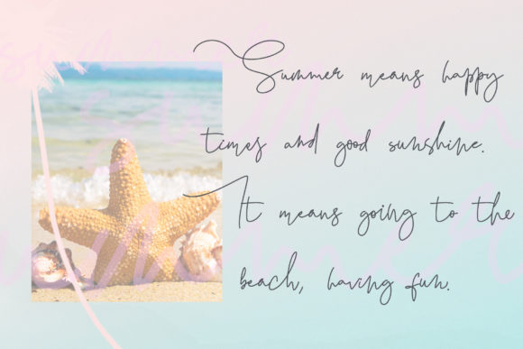Black Pink Summer Font By thomasaradea Image 2