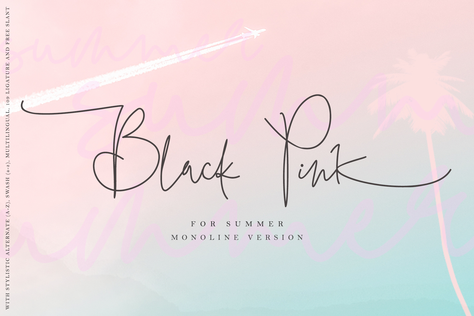 Download Free Black Pink Summer Font By Thomasaradea Creative Fabrica for Cricut Explore, Silhouette and other cutting machines.