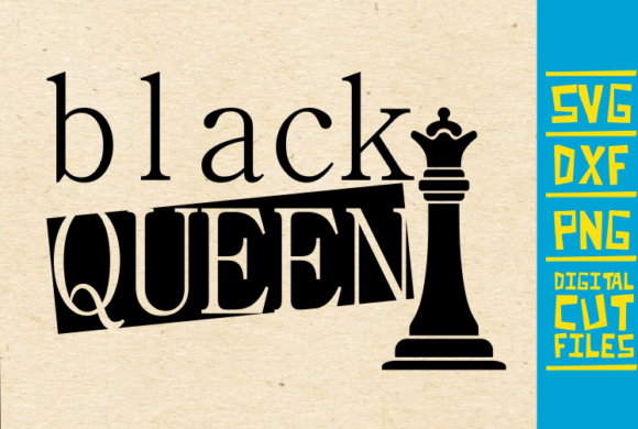 Black Queen, Chess Piece Graphic Illustrations By svgyeahyouknowme