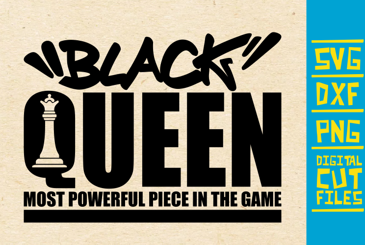 Download Free Black Queen Chess Piece Afro Girl Graphic By Svgyeahyouknowme for Cricut Explore, Silhouette and other cutting machines.