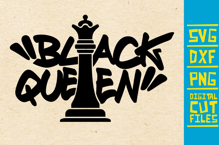Black Queen Chess Piece Black Girl Graphic By Svgyeahyouknowme