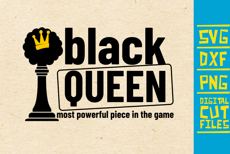 Download Black Queen Svg, Chess Piece, Crown Svg (Graphic) by ...